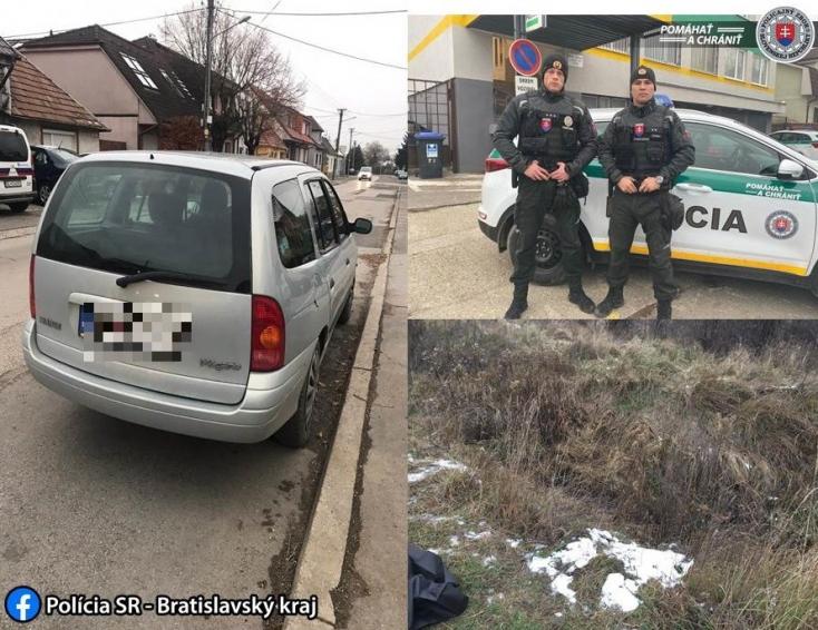 Az autóval megállított férfit gyanúsították meg a Pozsony közelében talált nő meggyilkolásával