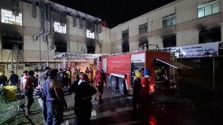 Felrobbant egy oxigéntartály, majd tűz ütött ki, 27 ember meghalt koronavírus-betegeket ellátóbagdadi kórházban