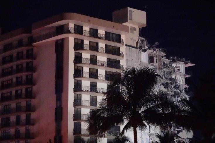 Kártyavárként omlott összeegy társasházMiamiban, közel száz lakóját nem találják