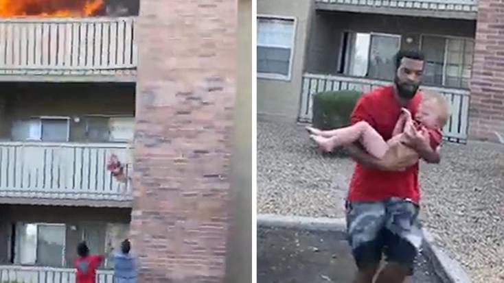 MEGDÖBBENTŐ: Gondolkodás nélkül kihajította az erkélyről kisfiát az anya, hogy mentse az életét – VIDEÓ