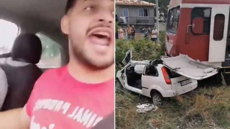 BRUTÁLIS: Élőben közvetítette a román popsztár, amint az autójukba hajt a vonat – VIDEÓ