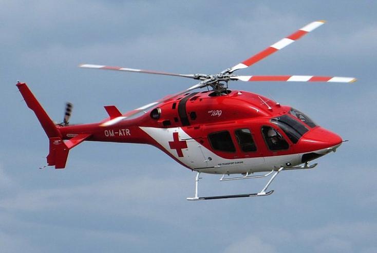 Súlyos munkabaleset, mentőhelikopterrel szállítottak kórházba egy férfit
